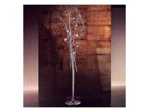 Melograno permanent, Lampadaire classique avec des éléments de crépitement de verre sphérique