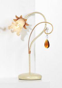 10231, Lampe de table avec pendule en cristal