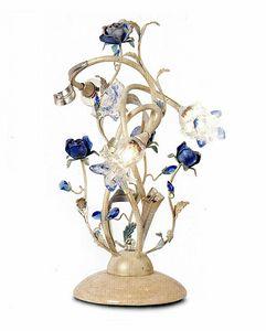 95833, Lampe de table avec fleurs d�coratives