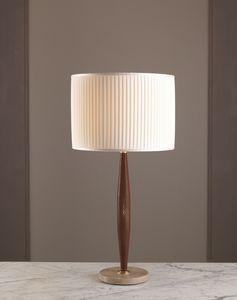 AMMOS HL1006TA-1, Lampe de table avec cadre en cuir