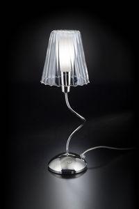 ARIA H 40, Lampe de table avec abat-jour en cristal