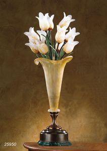 Art. 25950 Butterfly, Lampe de table en laiton avec des verres souffl�s fabriqu�s � Murano
