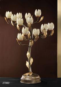 Art. 27960 Fior di Loto, Lampe de table en laiton et verre souffl� fabriqu� � Murano