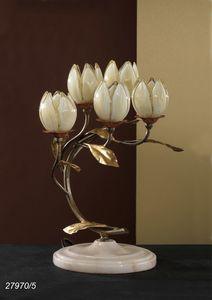 Art. 27970/5 Fior di Loto, Lampe de table avec des �l�ments en verre