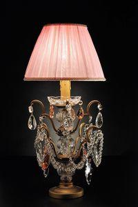 Art. 3850 P Cp, Lampe de table avec des cristaux de Bohême