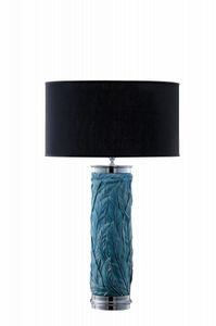 Art. LB301, Lampe de table cylindrique avec des embellissements floraux