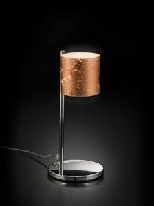 BRICK H 32, Lampe de table avec abat-jour en verre décoré