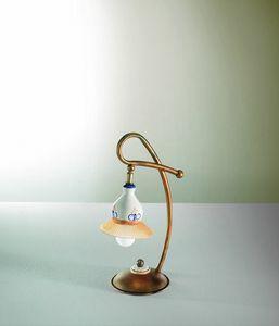 Campanella Vt188-038, Lampe en verre et céramique au design traditionnel