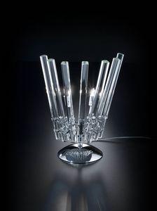 CIRCLE L 28, Lampe de table en cristal transparent