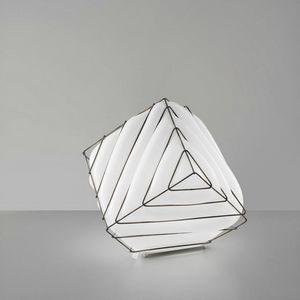 Dado Rt431-030, Lampe de table en métal et verre blanc