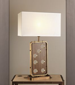 DOMINO HL1076TA-1, Lampe de table avec abat-jour en lin