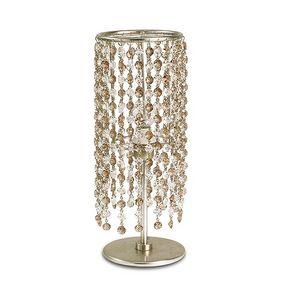 Gioia abat-jour, Lampe de table en fer, pendentifs en verre en 2 couleurs