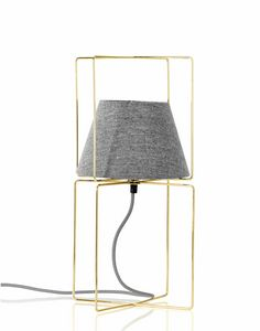 Kengo, Lampe de table avec abat-jour en tissu