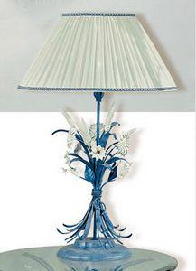 LG.4985/1, Lampe de table en fer forg� d�cor�e