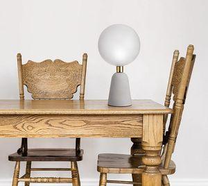 Lunar, Lampe de table avec base en béton