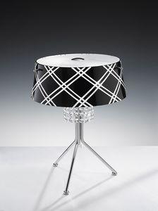 MEDUSA H 42, Lampe de table avec pendentifs en cristal