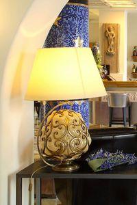 ORCIO HL1030TA-1GL, Lampe de table avec abat-jour en tissu