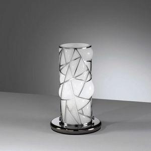 Orione Rt387-020, Lampe de table avec grille métallique décorative