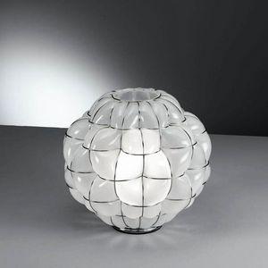 Pouff Rt383-035, Lampe de table en verre antique gravé à l'intérieur