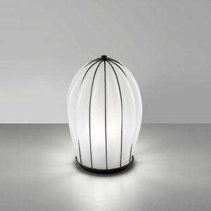 Salice Rt429-030, Lampe de table en verre blanc, soufflé à la main.