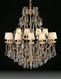 Art. 3881/12+6, Luxueux lustre idéal pour mobilier classique