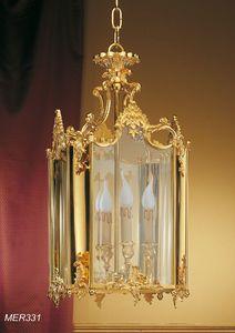 Art. MER 331, Lanterne classique en laiton doré