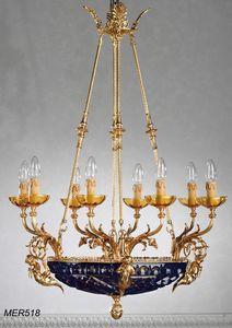 Art. MER 518, Lustre classique avec un bol en cristal