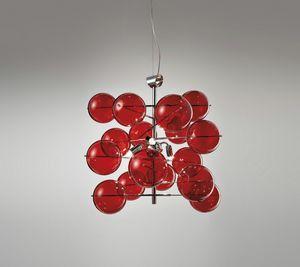 ATOM Ø 40, Lampe à suspension avec des boules de cristal
