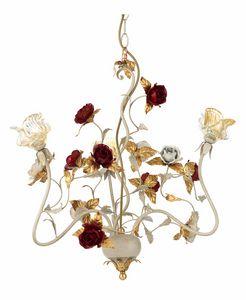 Claire LA/3, Lustre avec roses décoratives