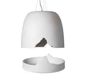 Crash SE114 1B INT, Lampe suspension en céramique, compatible avec le plateau complémentaire