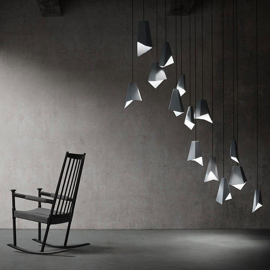 Gami, Lampe en céramique en finition béton