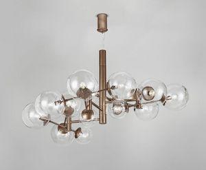 GLOBAL Ø 150, Lampe à suspension avec des sphères acryliques