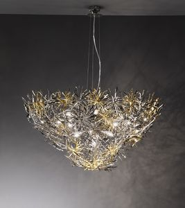 Ispirazione ceiling lamp, Lampe dans un style moderne, finition en nickel, chrome et or