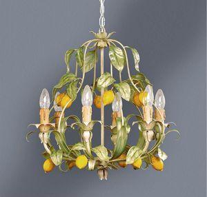 L.4885/6, Lustre à décor de feuilles et de citrons