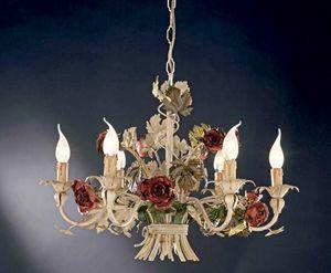 L.5105/6, Lustre avec des roses en fer forgé