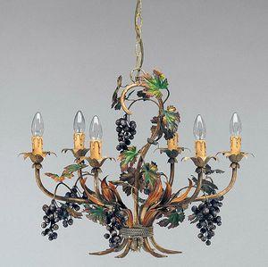 L.5190/6, Lustre avec des décorations en forme de grappes de raisin