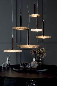MACRABÈ Lampes, Lampes en bois massif et verre de fusion