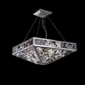 Mystique SS7800-1DN1, Lampe à suspension en verre panaché