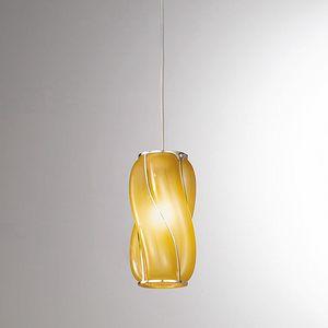Orione Rs385-020, Lampe à suspension avec des lignes sinueuses
