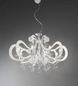 Ornella ceiling lamp, Lustre en métal moderne, différentes finitions