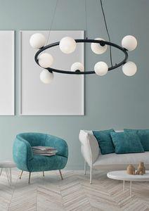 Pomì, Lustre circulaire avec sphères de verre