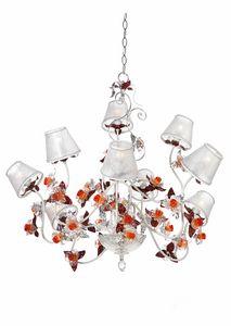 Rose LA/9, Lustre à fleurs décoratives en verre de Murano