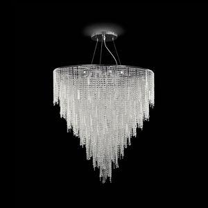 Vanity SS7660-90×125-CN, Lampe à suspension décorée de cristal taillé