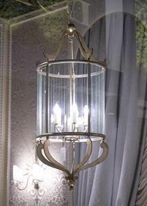 VETRI TAGLIATI HL1084CH-5, Lanterne de fer avec des décorations en verre