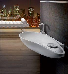 ACCENT BASIN, Round lavabo de comptoir en céramique