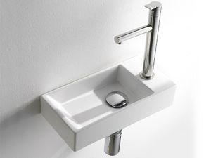 ACQUAFREDDA RECTANGULAR WASHBOWL, Lave-mains de petites dimensions, en céramique