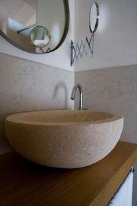 Ellisse collection, Vasque ronde en pierre de Vicence