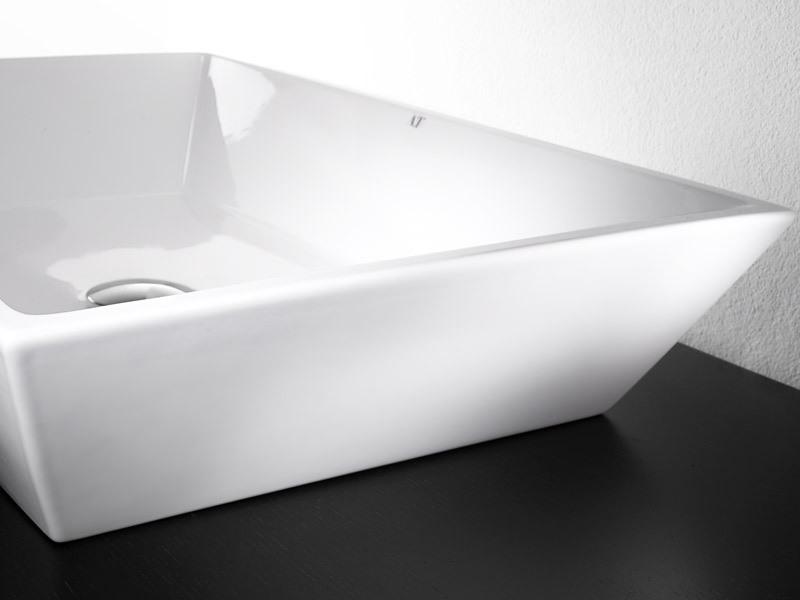 PRISMA L292 BASIN, Top lavabo en céramique