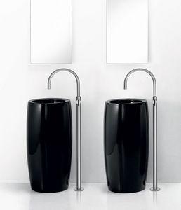 TOTEM ONE BASIN, Colonne lavabo en céramique