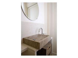 You collection, Rectangulaire lavabo en pierre, sur mesure